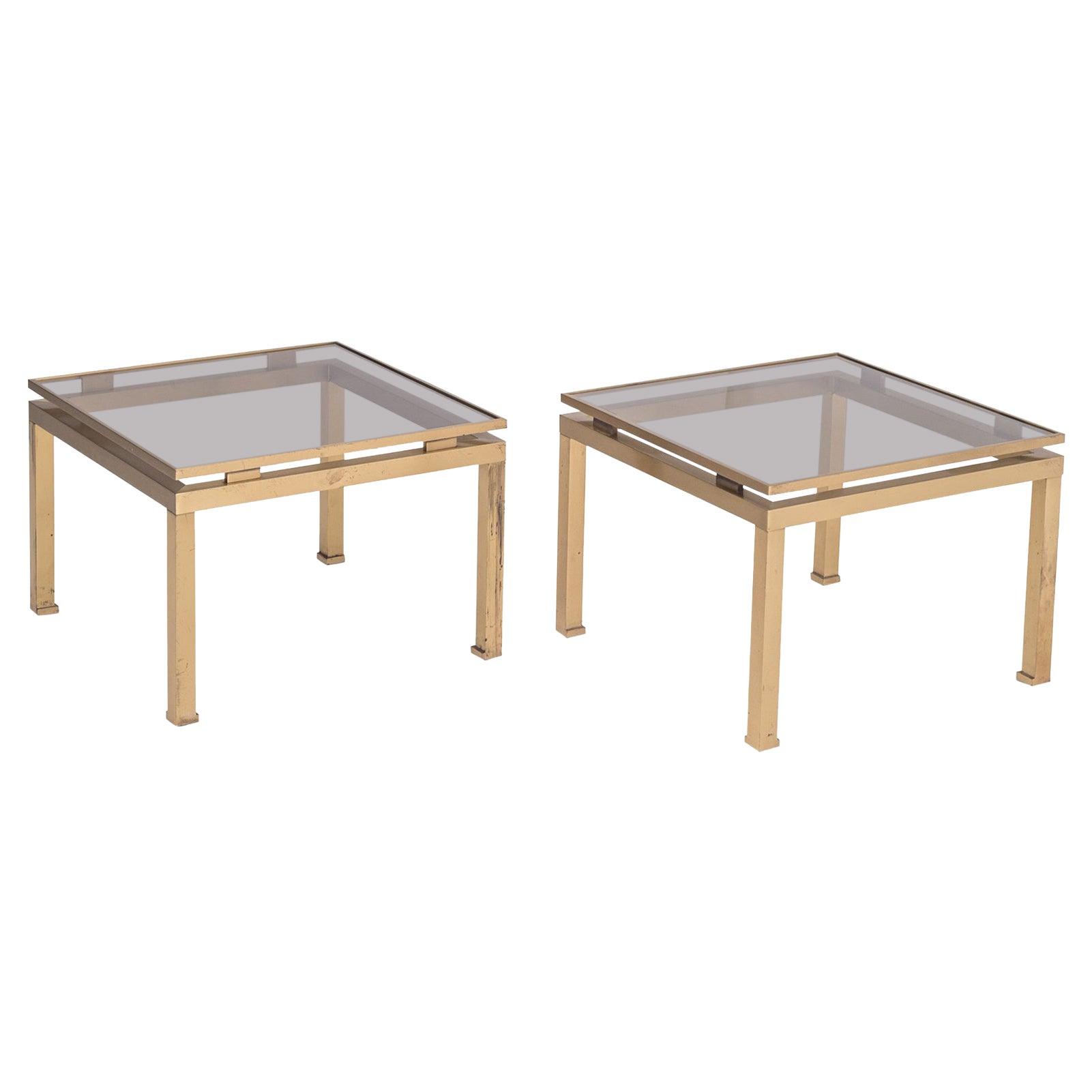 Brass Side Tables by Guy Lefevre for Maison Jansen