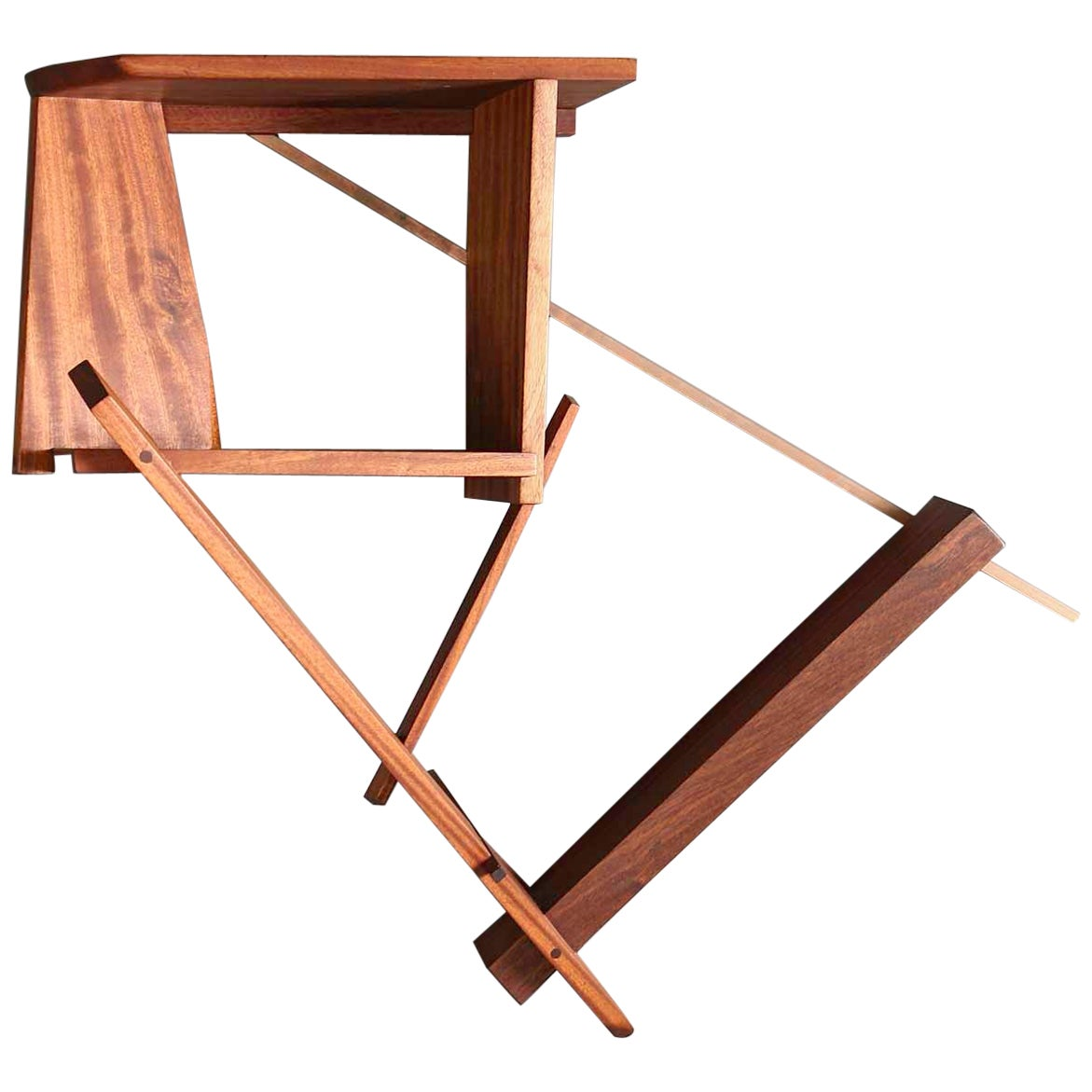 """Unique, One-of-a-Kind Mahogany and Copper """"Boyle Height Shelf"""""""