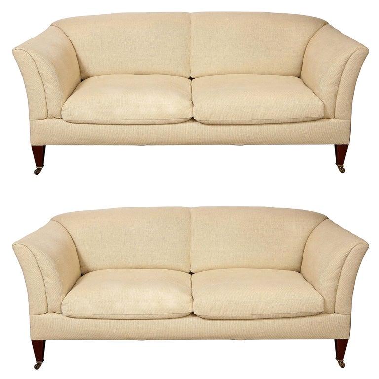 Pair of Original Howard & Sons Sofas For Sale