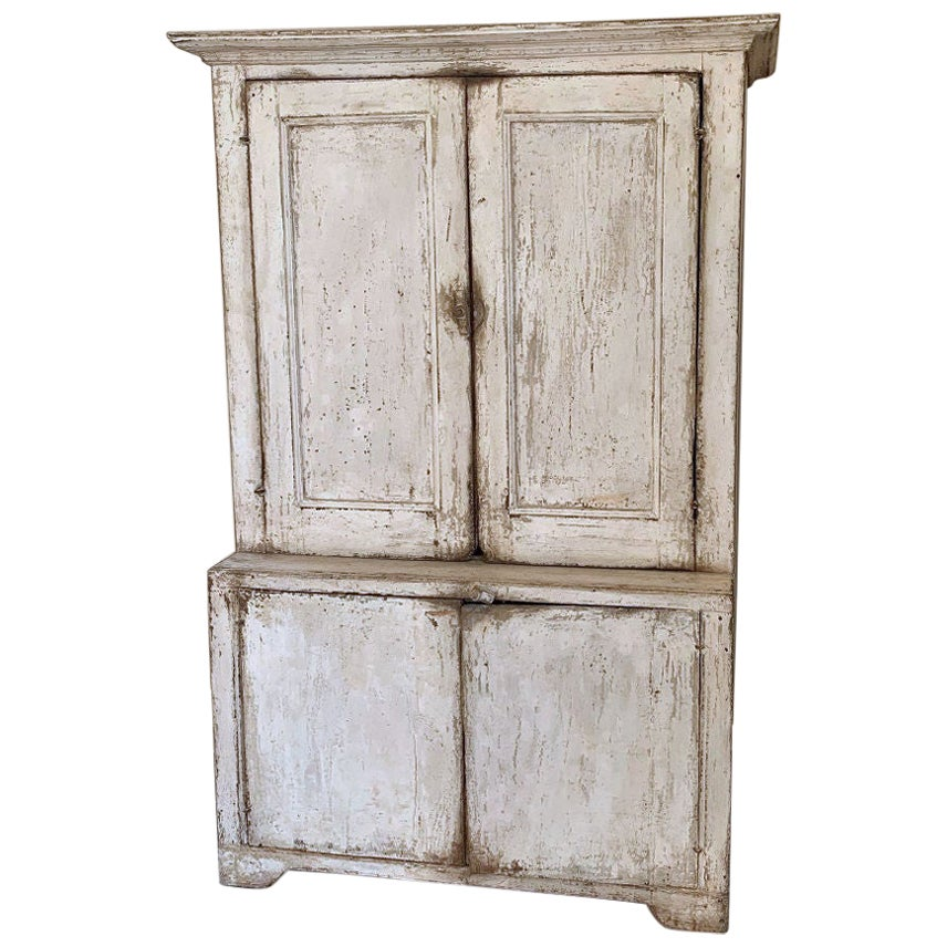 Small Painted  Cupboard, 19th Century