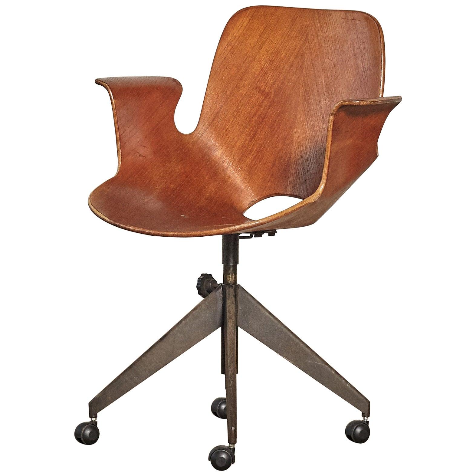Vittorio Nobili for Fratelli Tagliabue Medea Desk Chair, Italy, 1950s