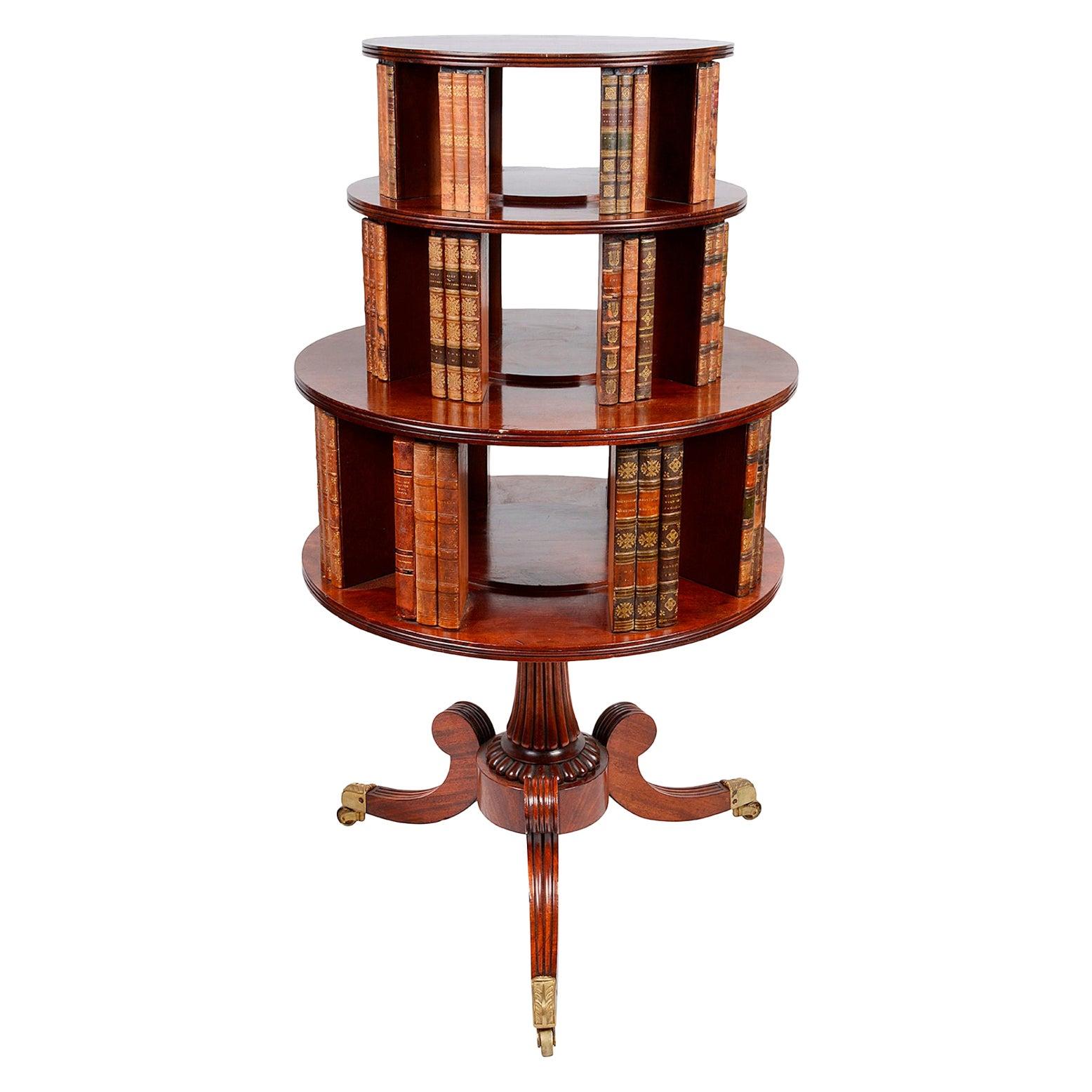 Regency Period Mahogany Revolving bookcase, circa 1820