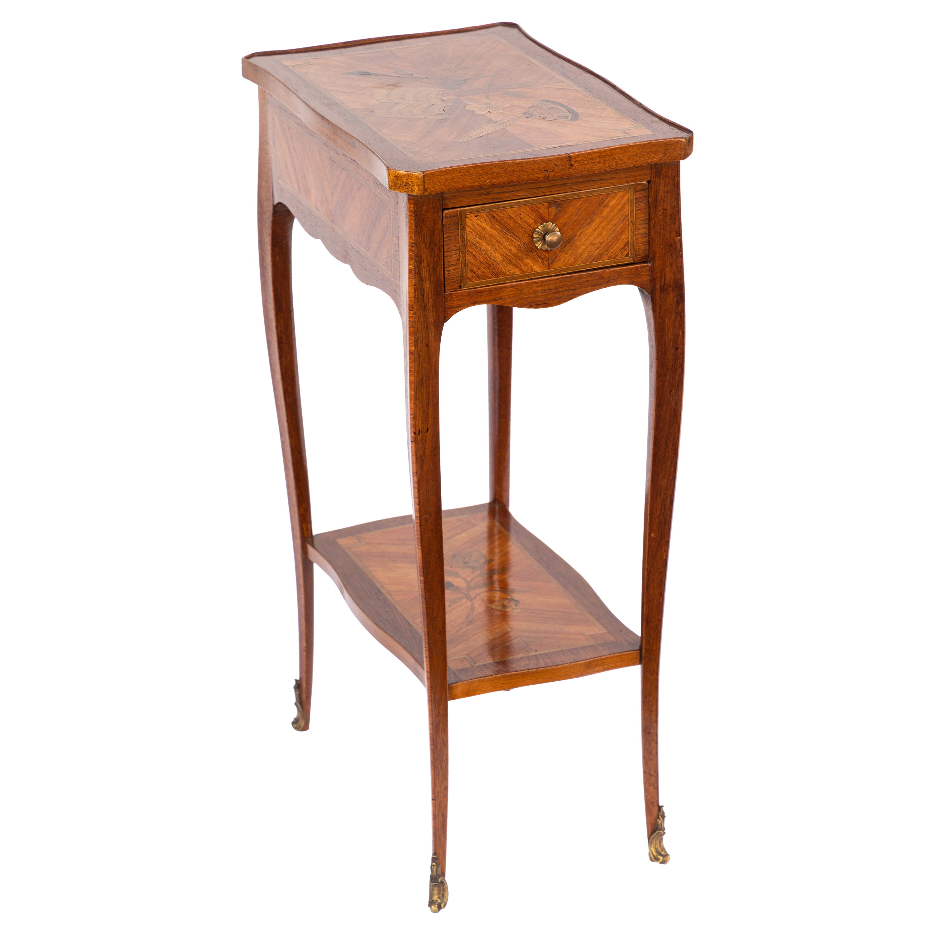 1900s French Inlaid Side Table