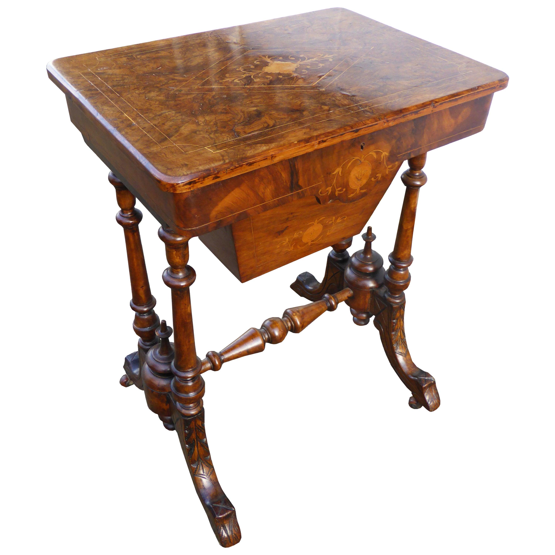 19th Century English Victorian Pollard Oak Work Table