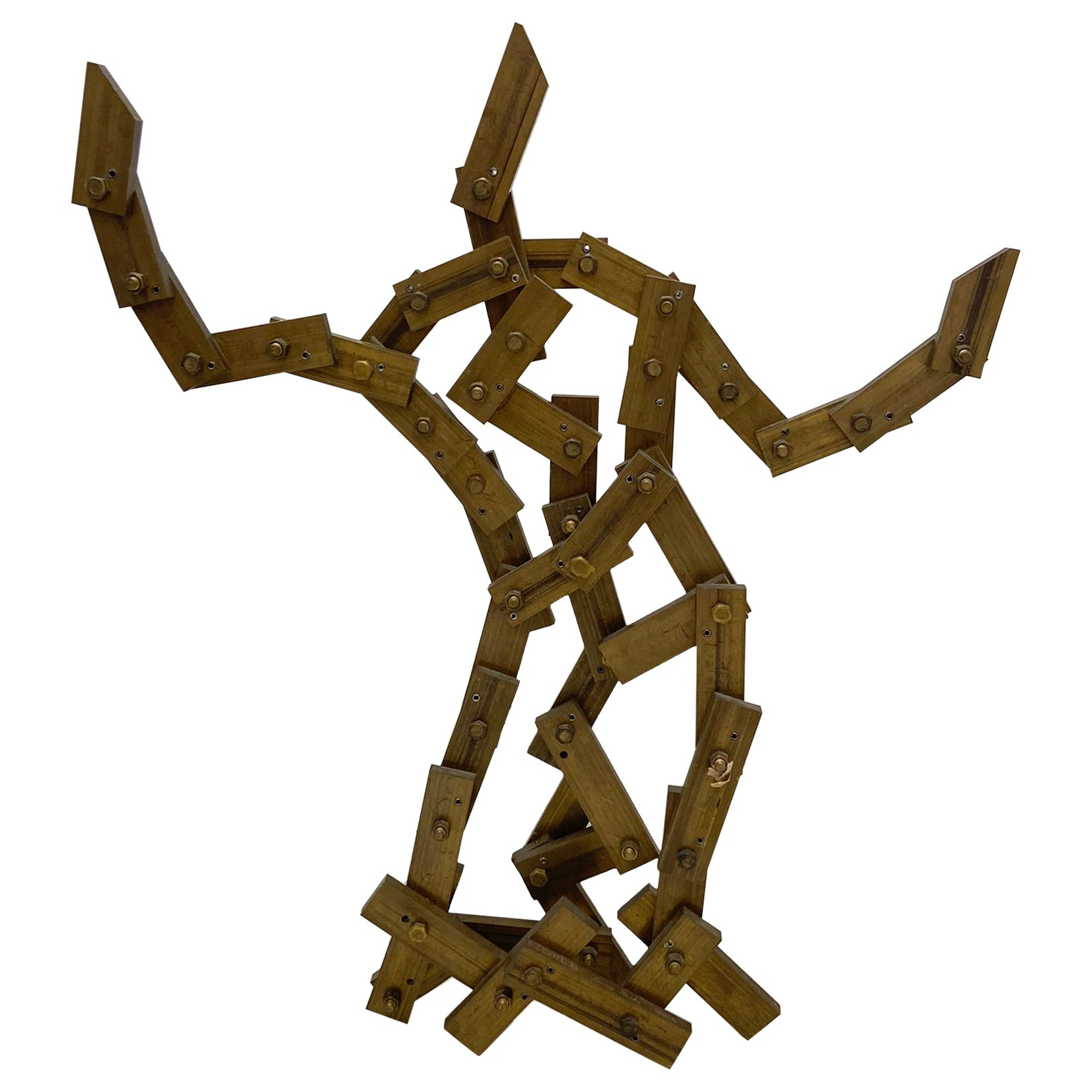 Large Abstract Bronze Sculpture by Larry Mohr American Sculptor