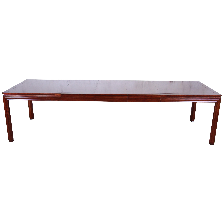 John Widdicomb Mid-Century Modern Walnut Extension Dining Table, Newly Restored