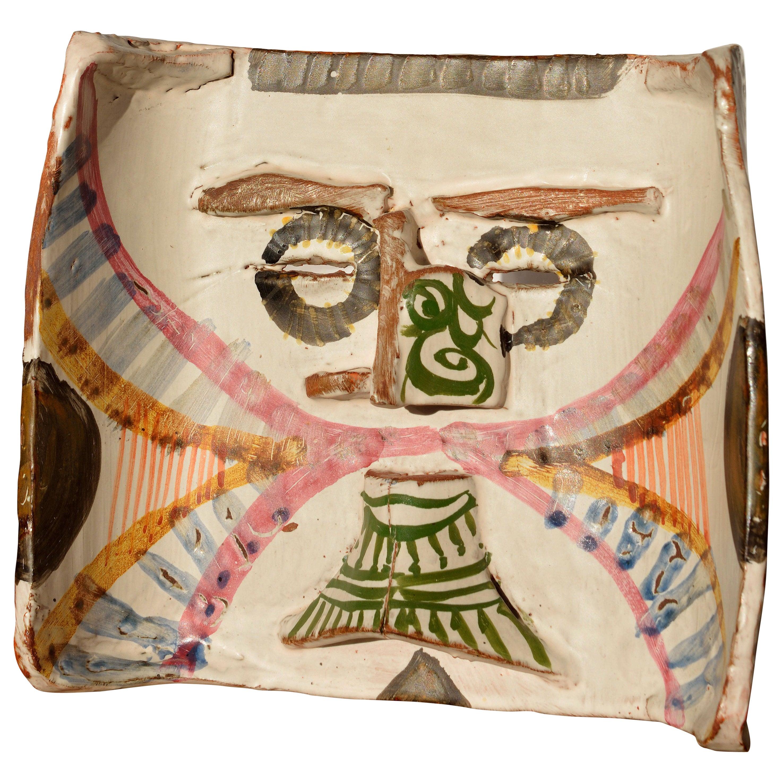 Ceramic Mask by Gilbert Portanier, 1979