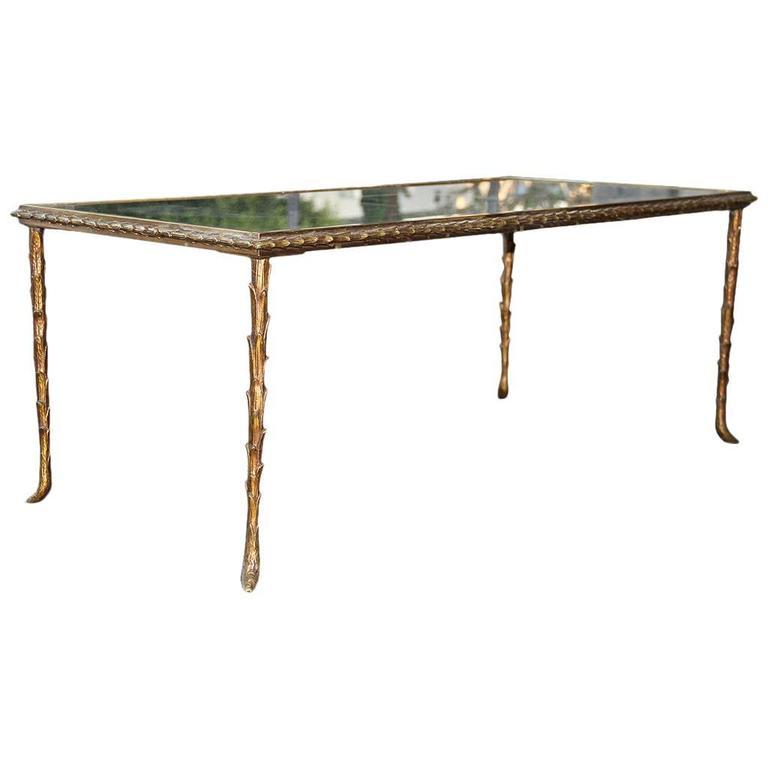 Rare Bronze Table by Maison Baguès, 1950 For Sale