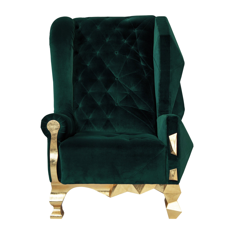 Deep Green Armchair by Royal Stranger