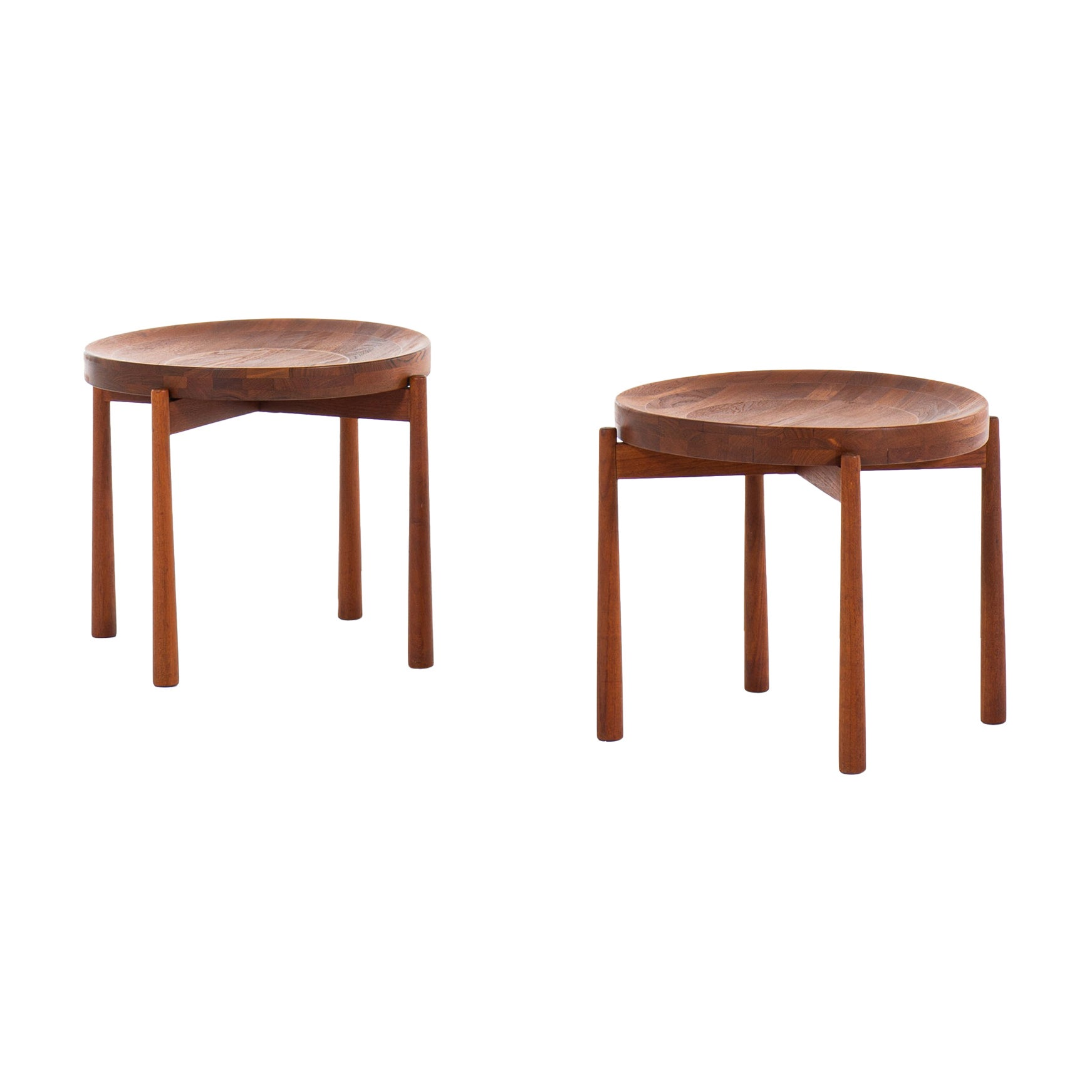 Jens Harald Quistgaard Attributed Side Tables Produced by Nissen in Denmark