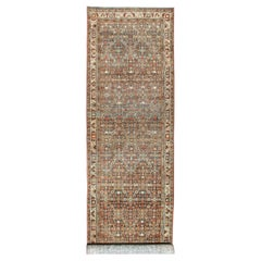 Antique Persian Malayer Long Runner with All-Over Geometric Herati Design