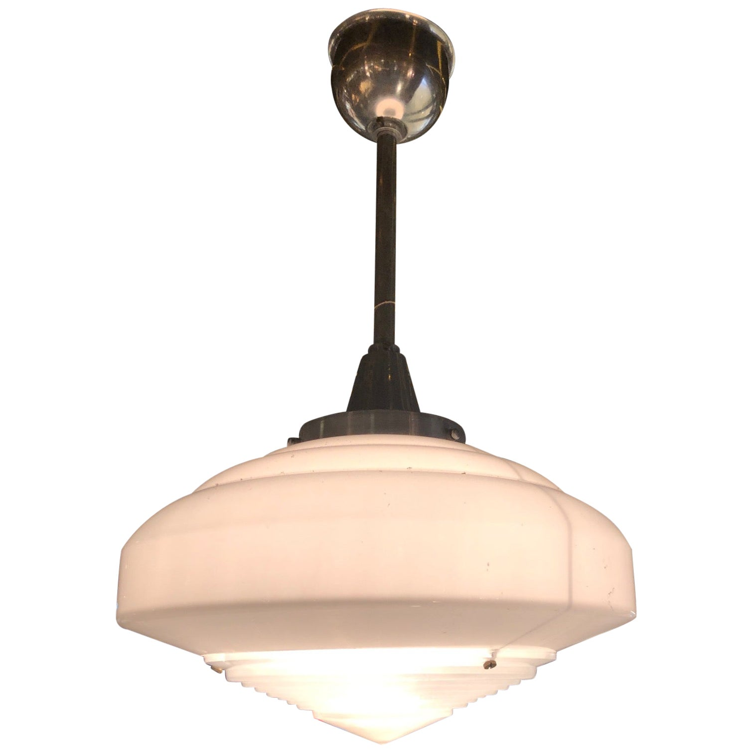 Holophane Pendant Chandelier from the 1930s