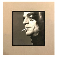 """Michel Comte Silver Gelatin Photograph Print """"Jeremy Irons with Monocle"""", 1990"""