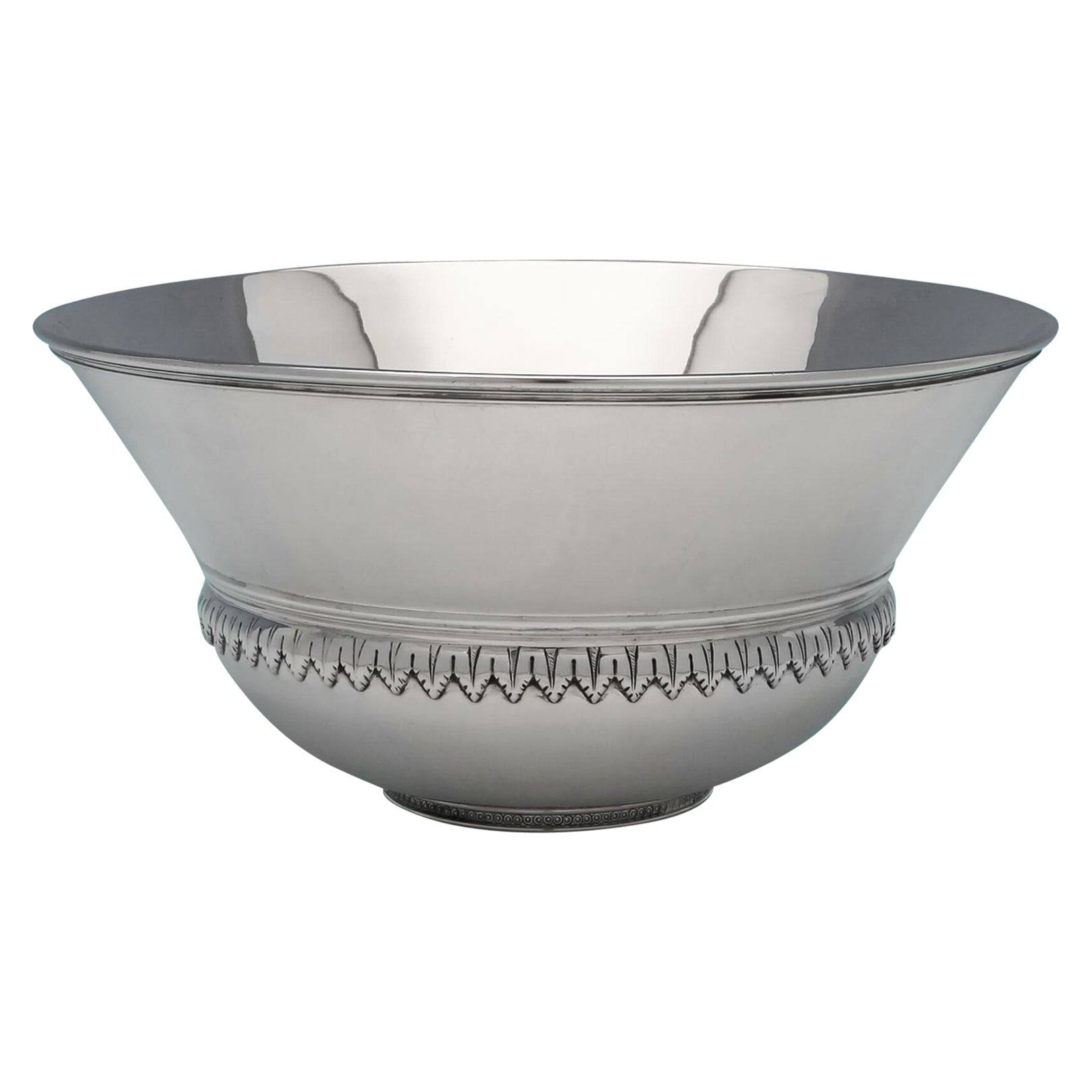 Art Deco Sterling Silver 'Mazer' Bowl by Richard Comyns in 1936