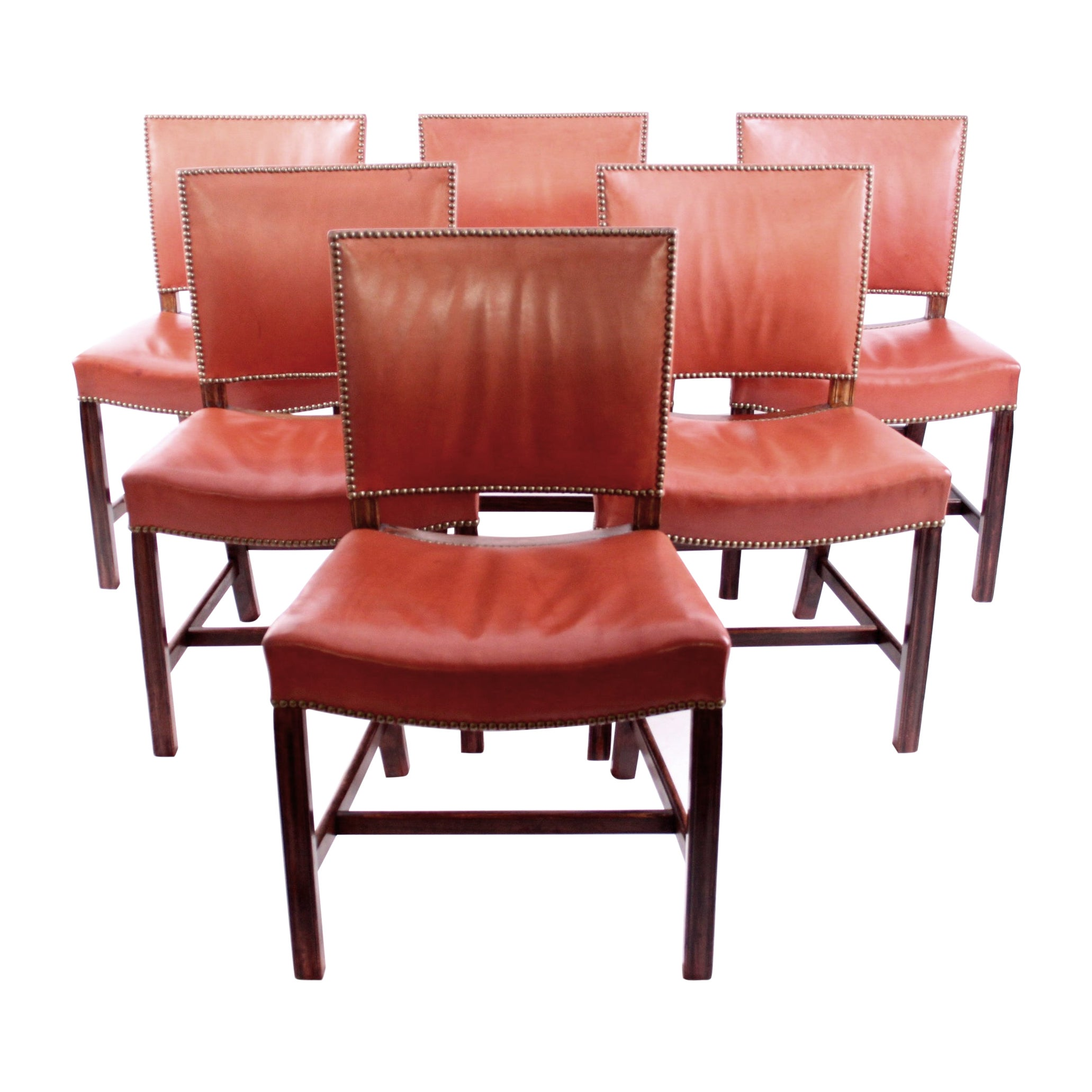 """Set of Six Kaare Klint """"Red Chairs"""""""
