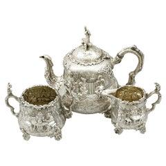 Antique Victorian Sterling Silver Three-Piece Tea Service
