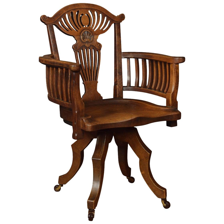 Oak Office / Captain's Revolving Desk Chair