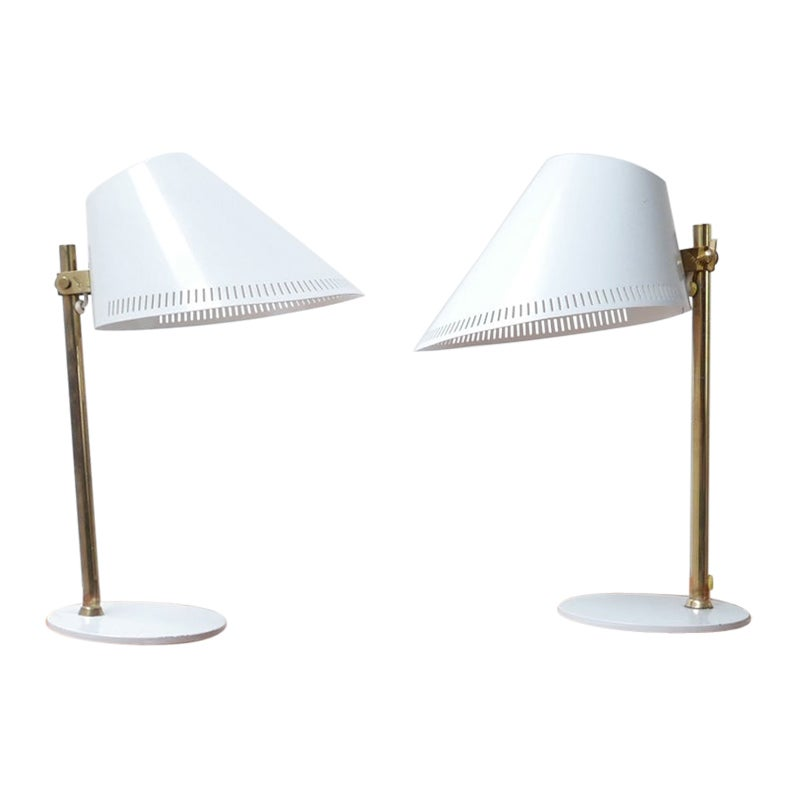 Midcentury Table lamps by Paavo Tynell H5-8/9227 Model