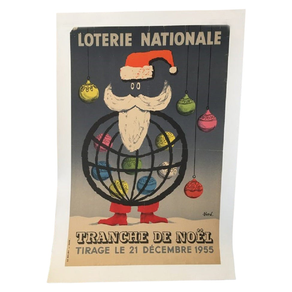 National Lottery Slice of Christmas Original Vintage Poster