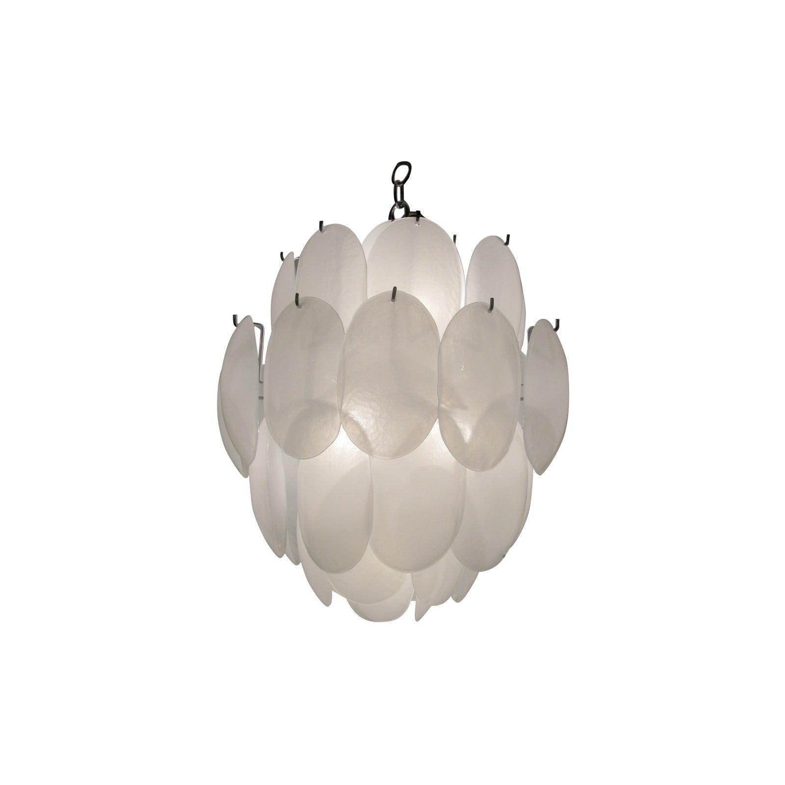 Mid Century Modern Murano Glass Drop Chandelier