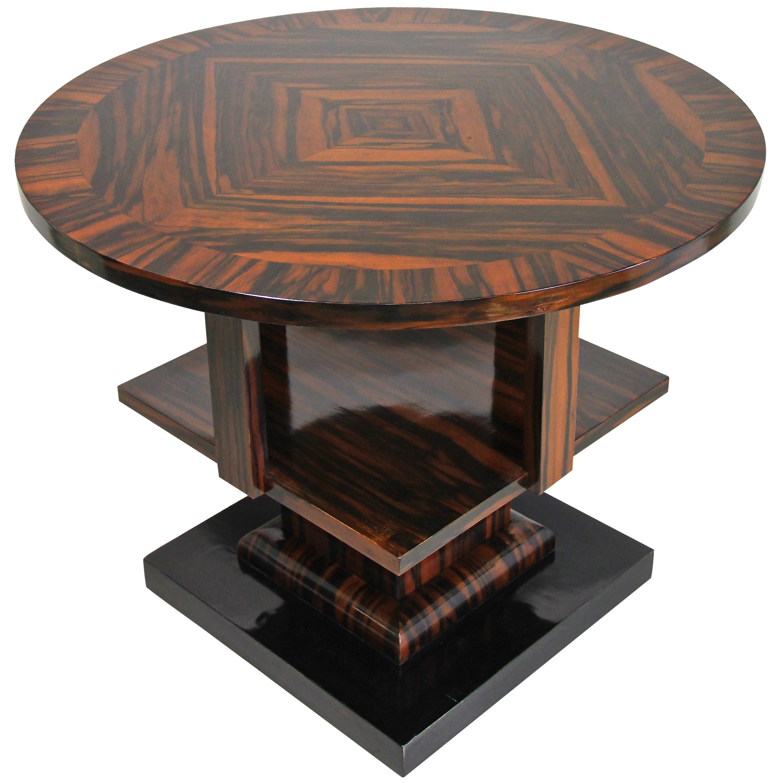 Art Deco Table Macassar Wood, Austria, circa 1920