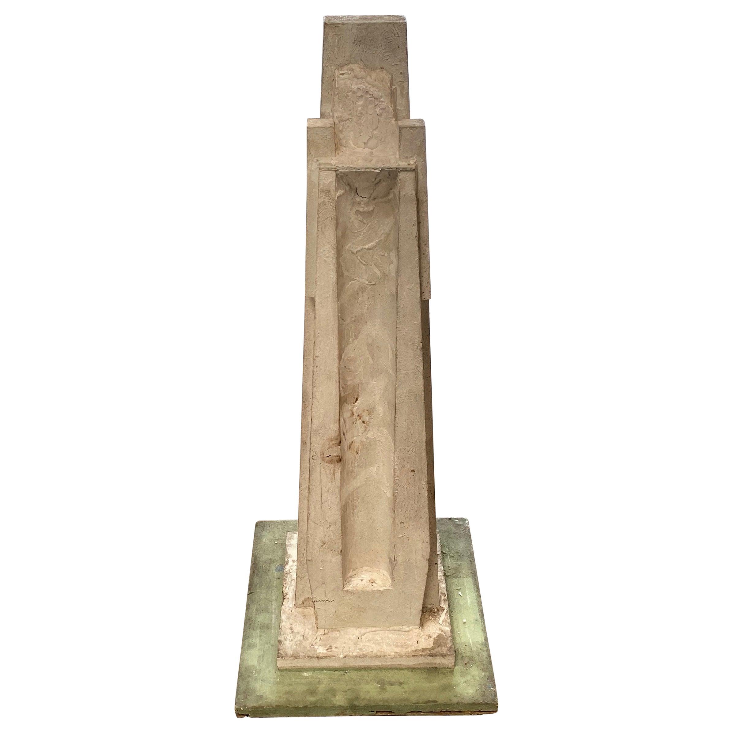 Monumental Vintage Statuary Obelisk, Italy, 1940s