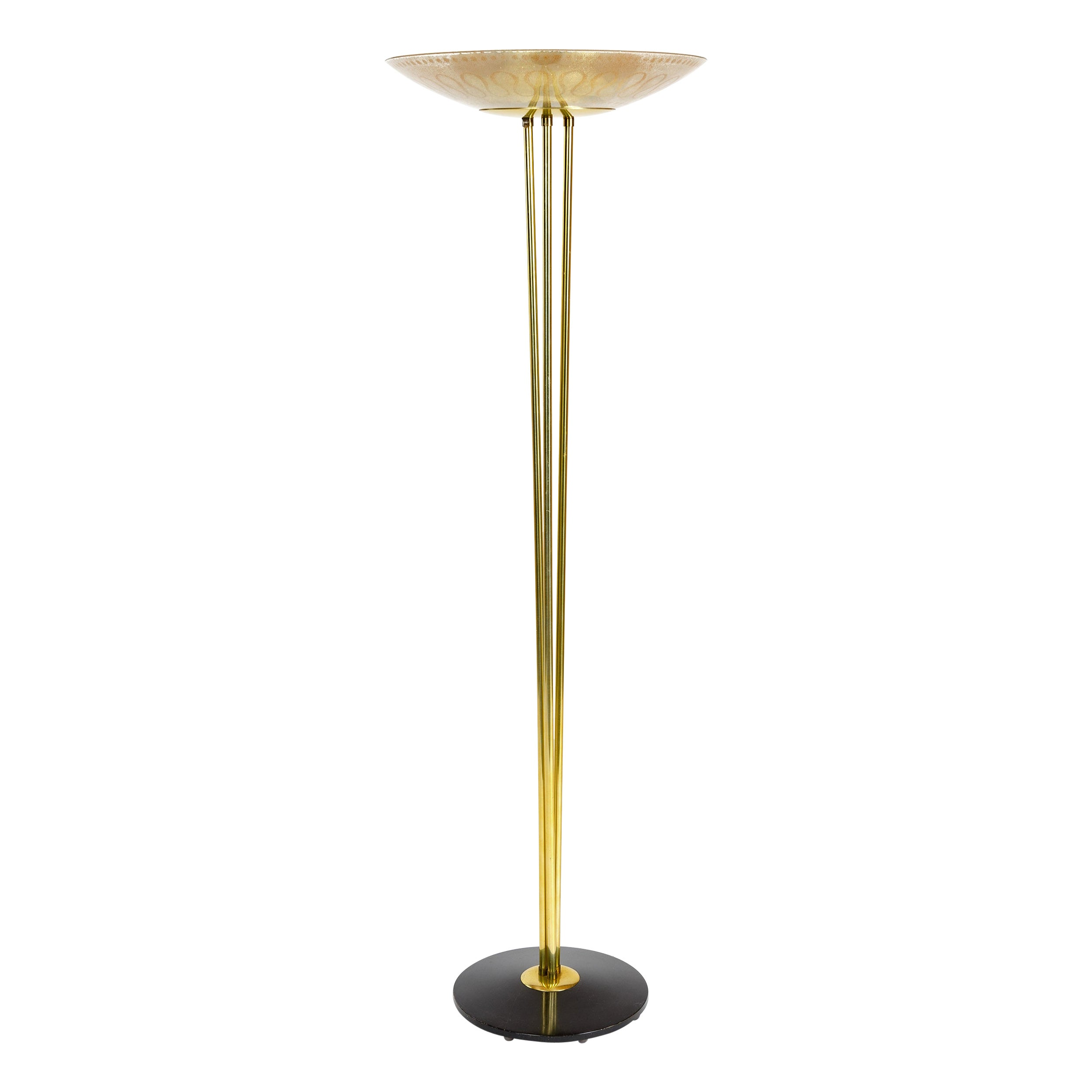 1950s Torchère Floor Lamp by Gerald Thurston for Lightolier
