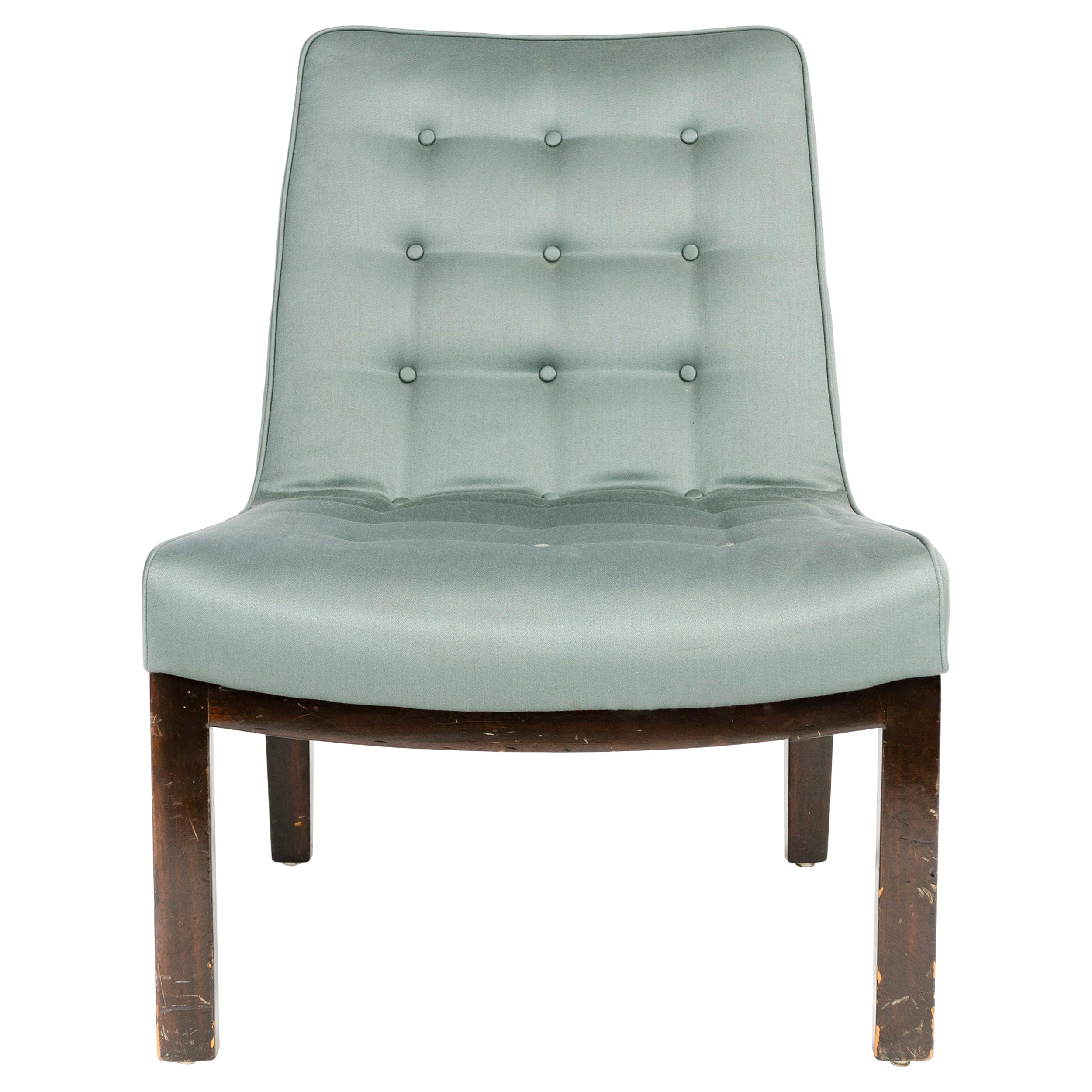 1950s Tufted Lounge Chair by Edward Wormley for Dunbar