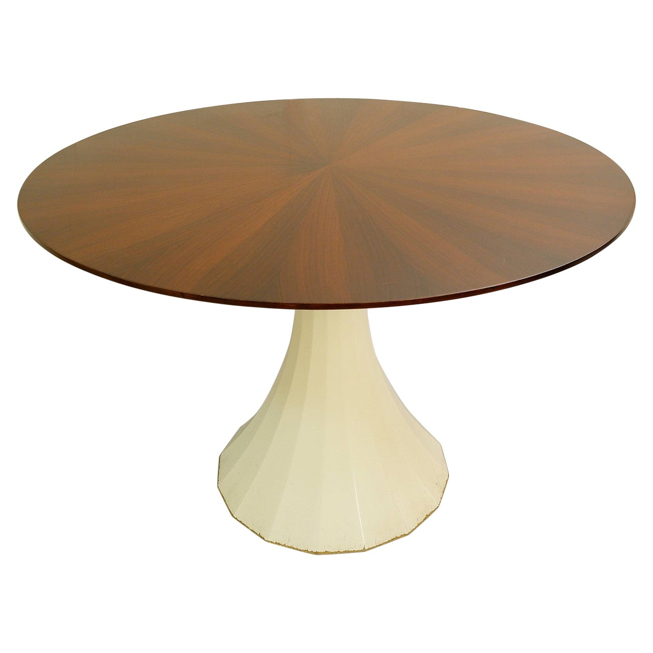 Round Dining Table with Star Veneered Top