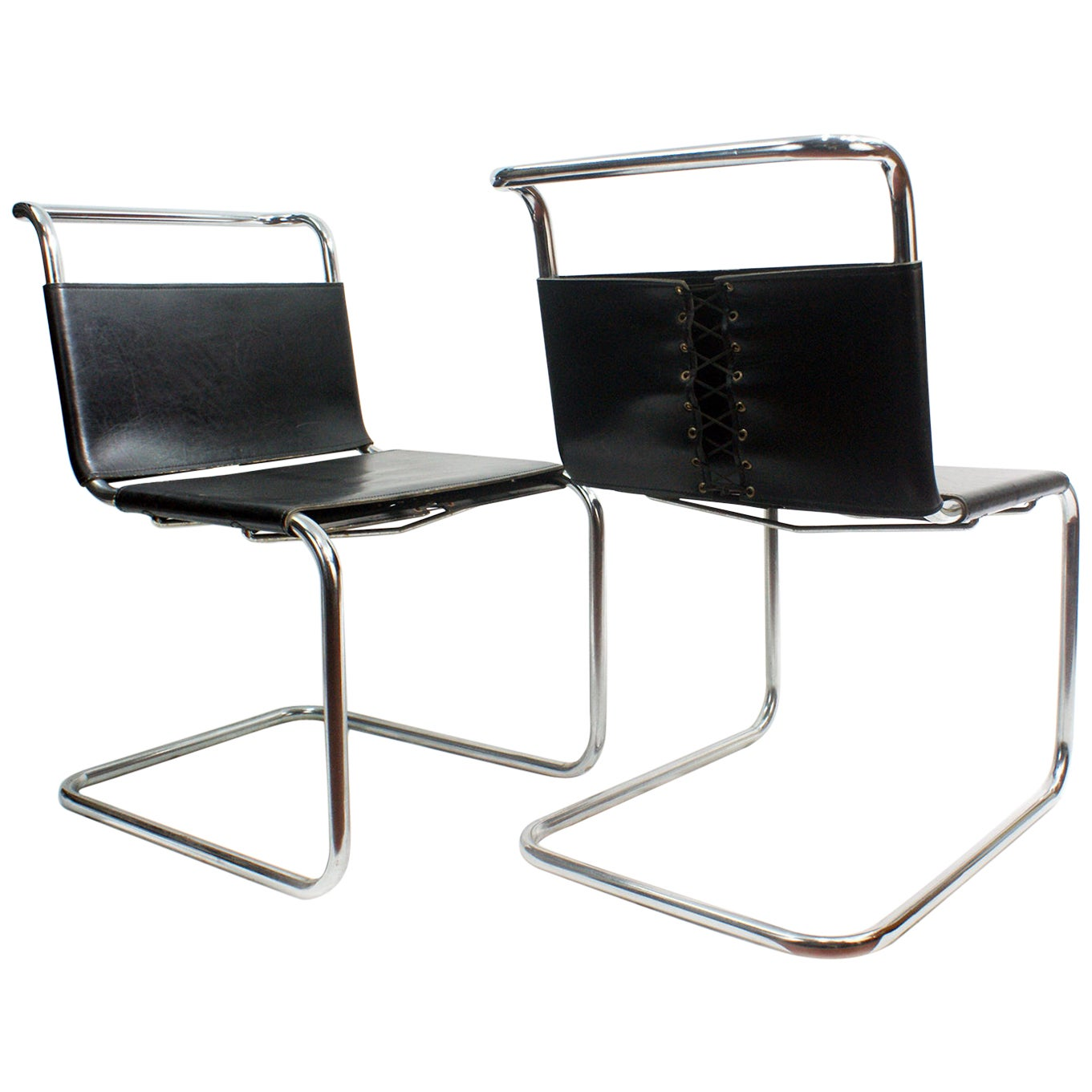 Mies van der Rohe MR10 Sling Lounge Chairs