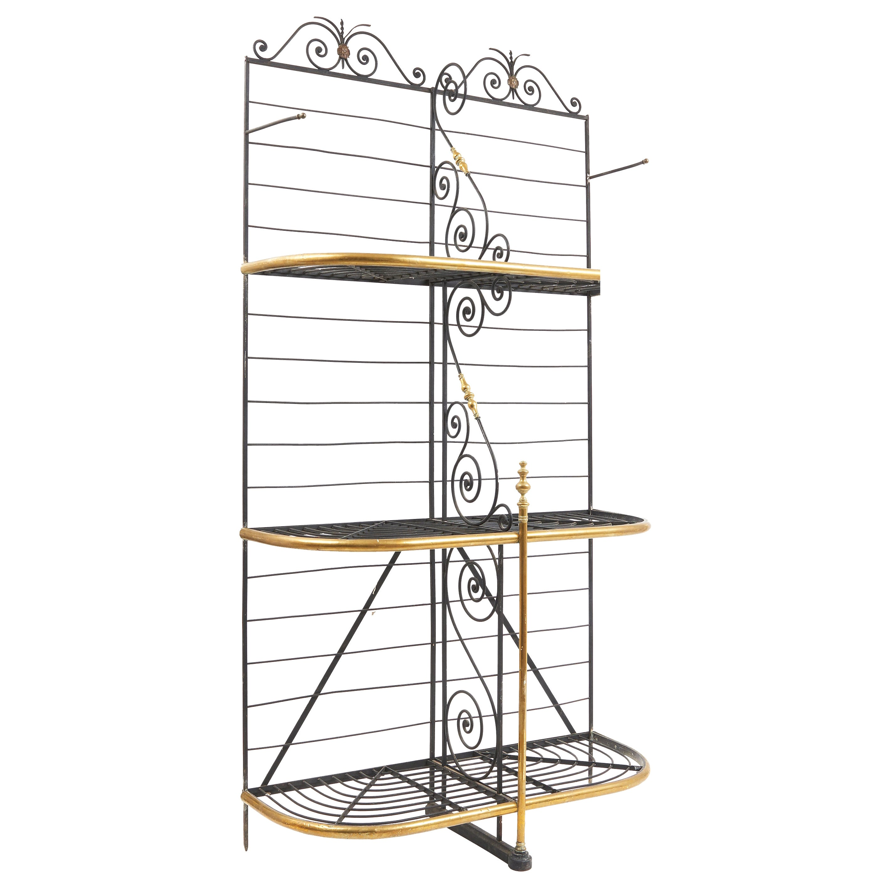 Wrought Iron and Brass Baker's Rack, France, circa 1880
