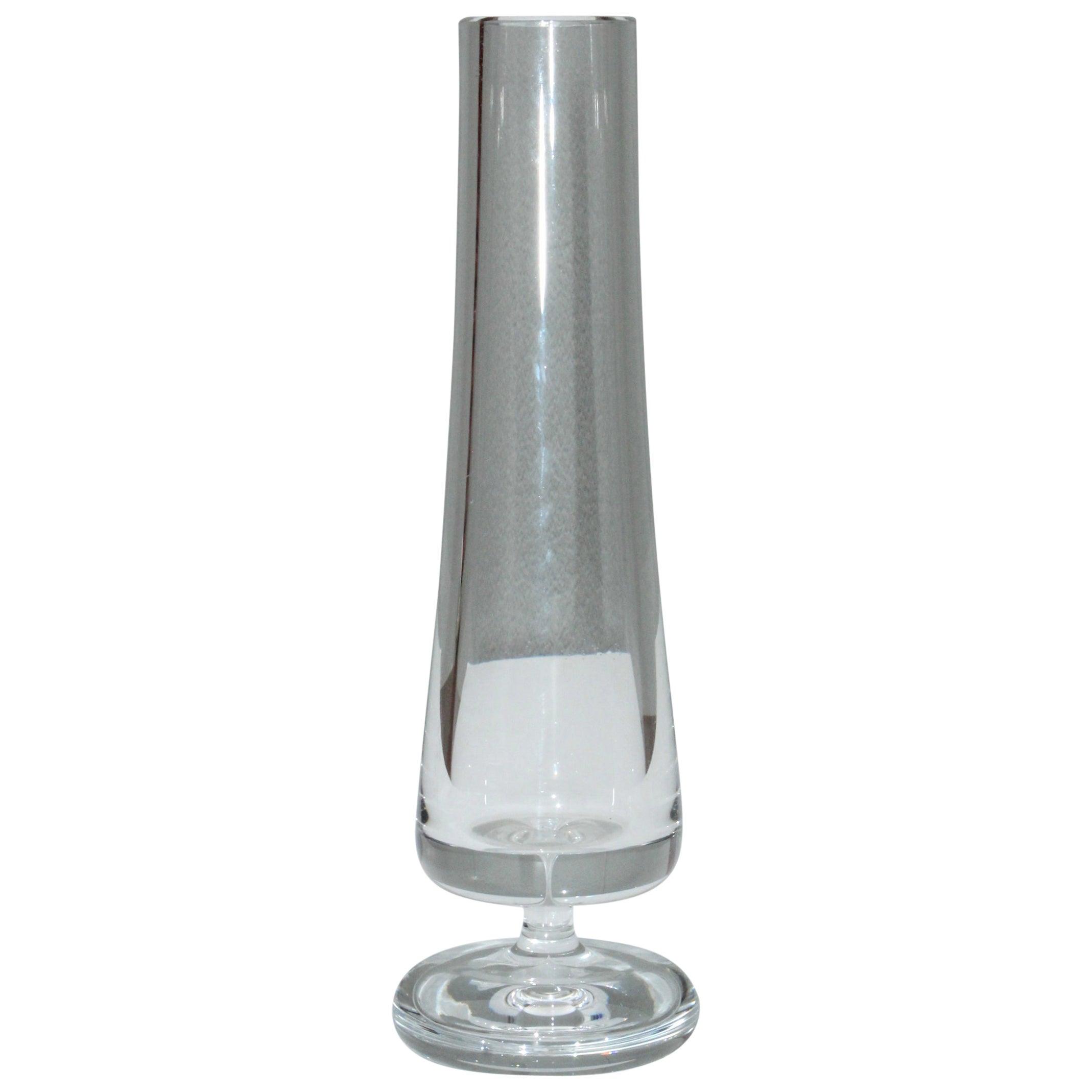 Mid-Century Modern Baccarat Glass Vase