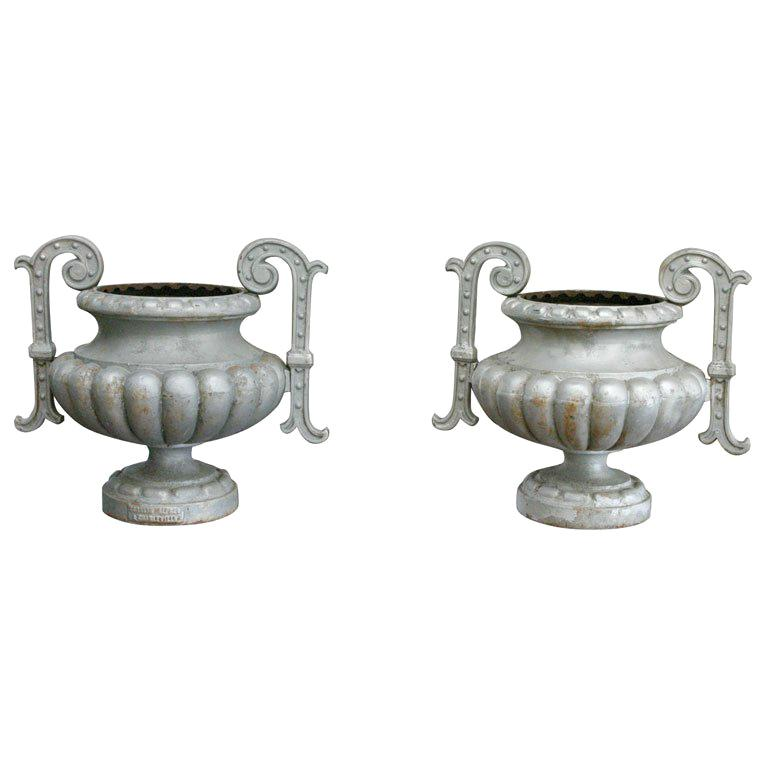 French Urns by Alfred Corneau a Charleville For Sale