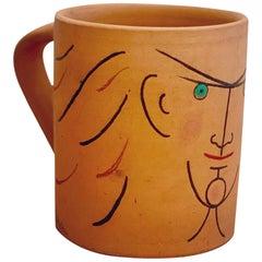 "Jean Cocteau Original Edition Ceramic Mug ""Le Chevalier"", 1959"