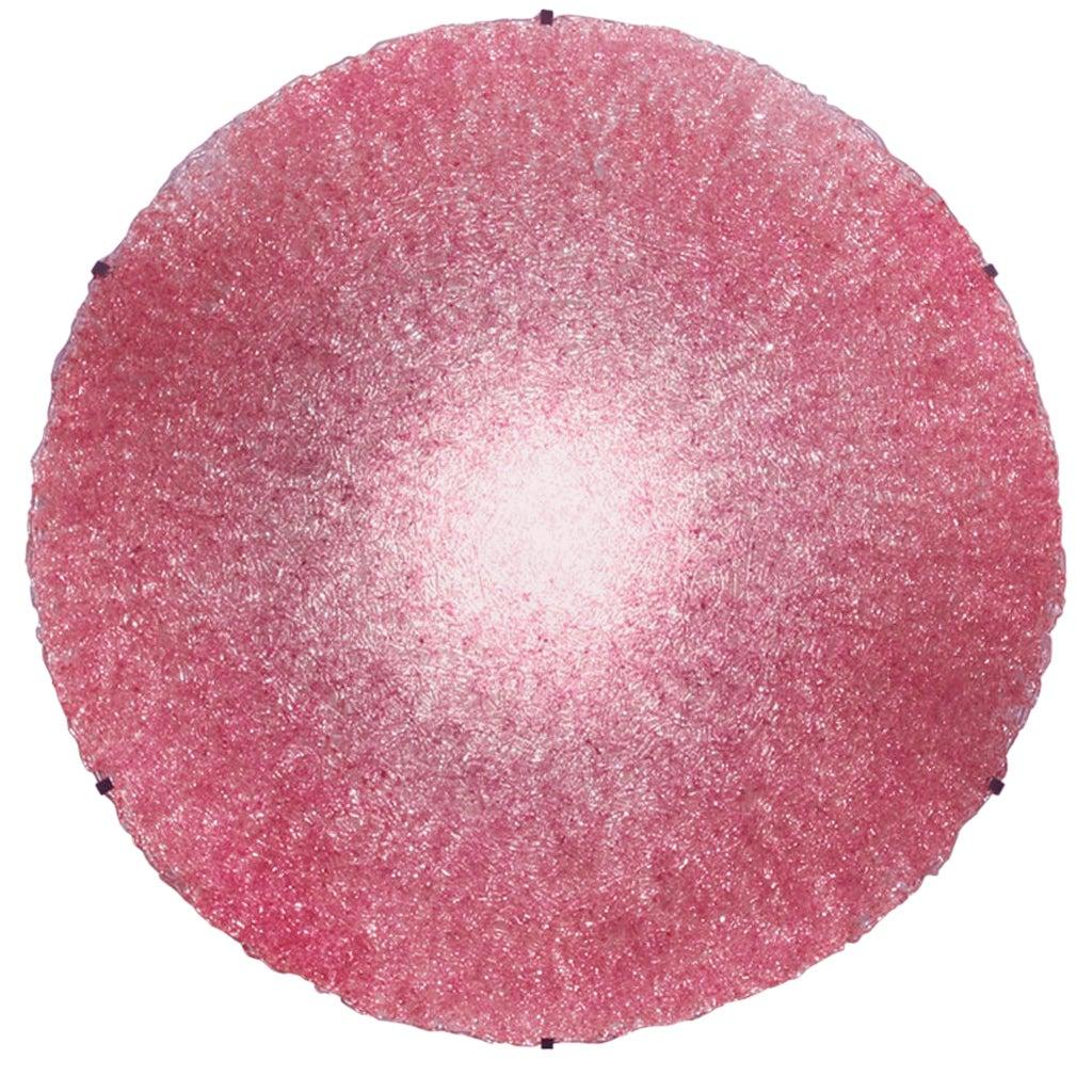 Jacopo Foggini Contemporary Modern Circular Pink Polycarbonate Italian Wall Lamp