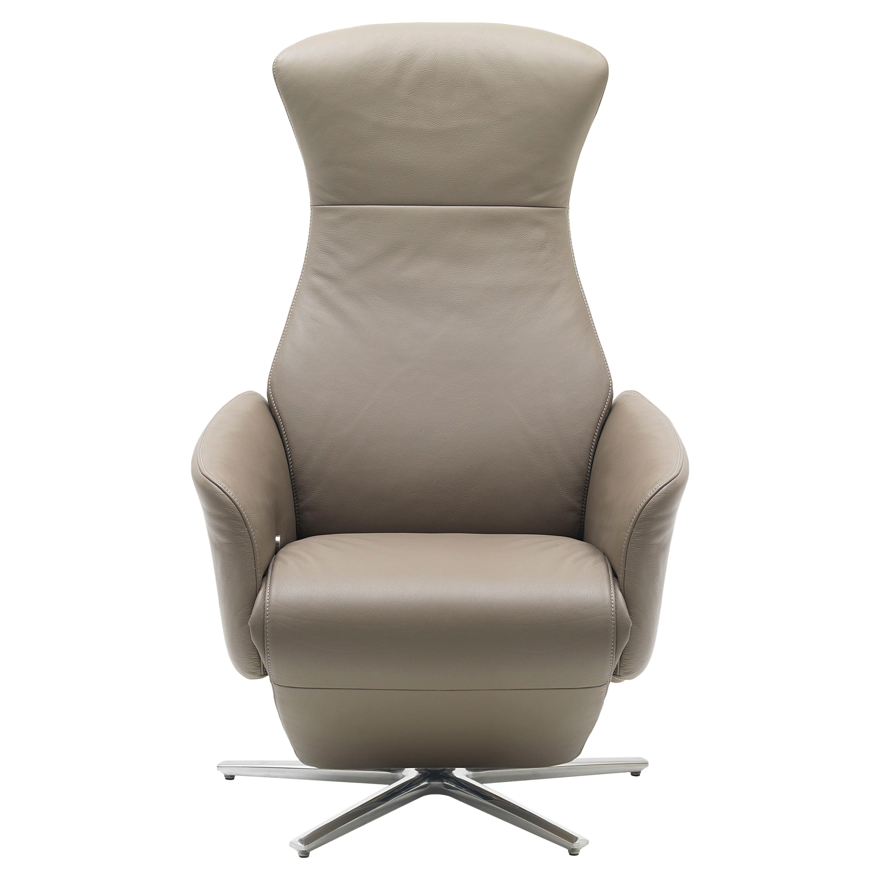 Cleo Adjustable Reclining Leather Easy Lounge Chair by FSM