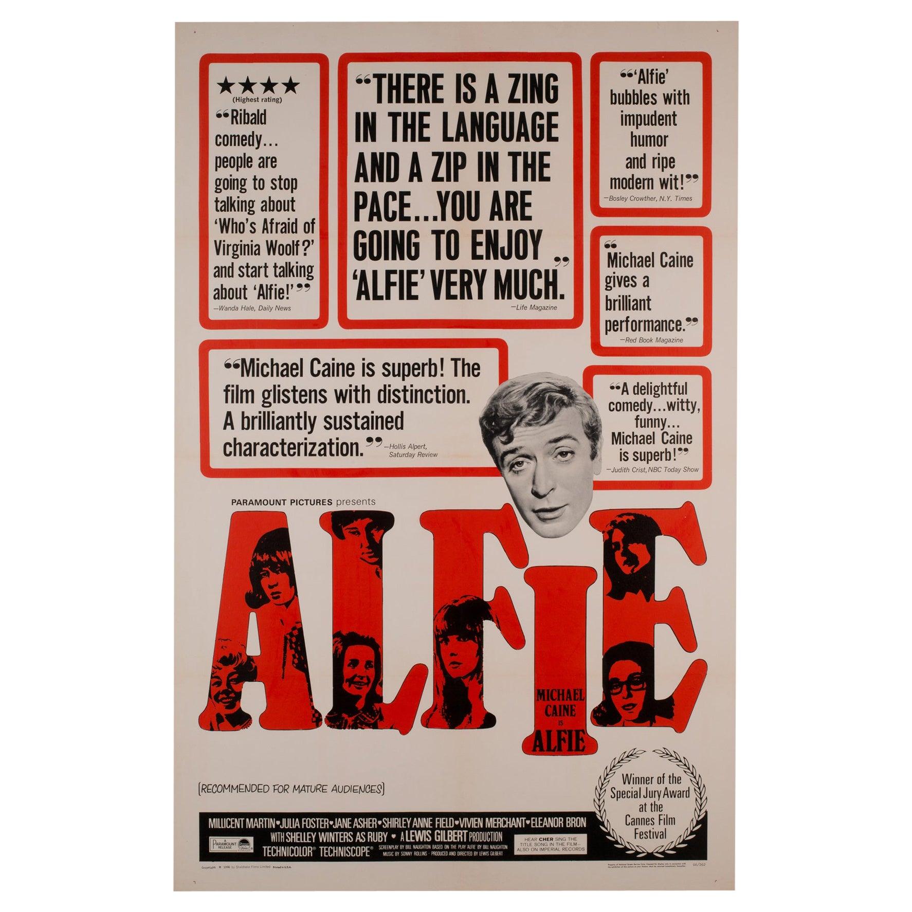 Alfie US 1 Sheet, Film Movie Poster 1966 Linen Backed