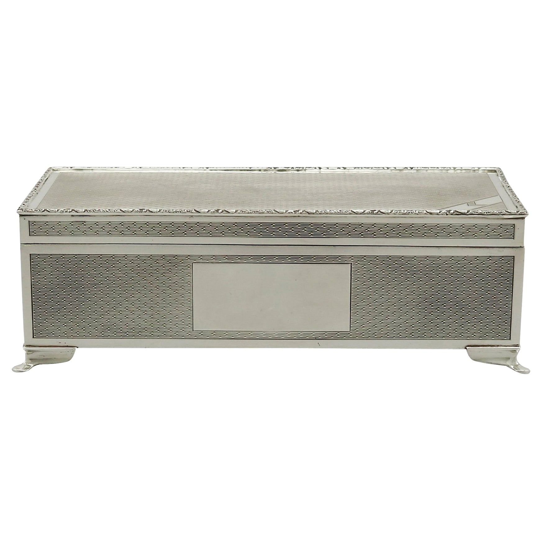 1970s Sterling Silver Cigarette Jewelry Box by Harman Brothers