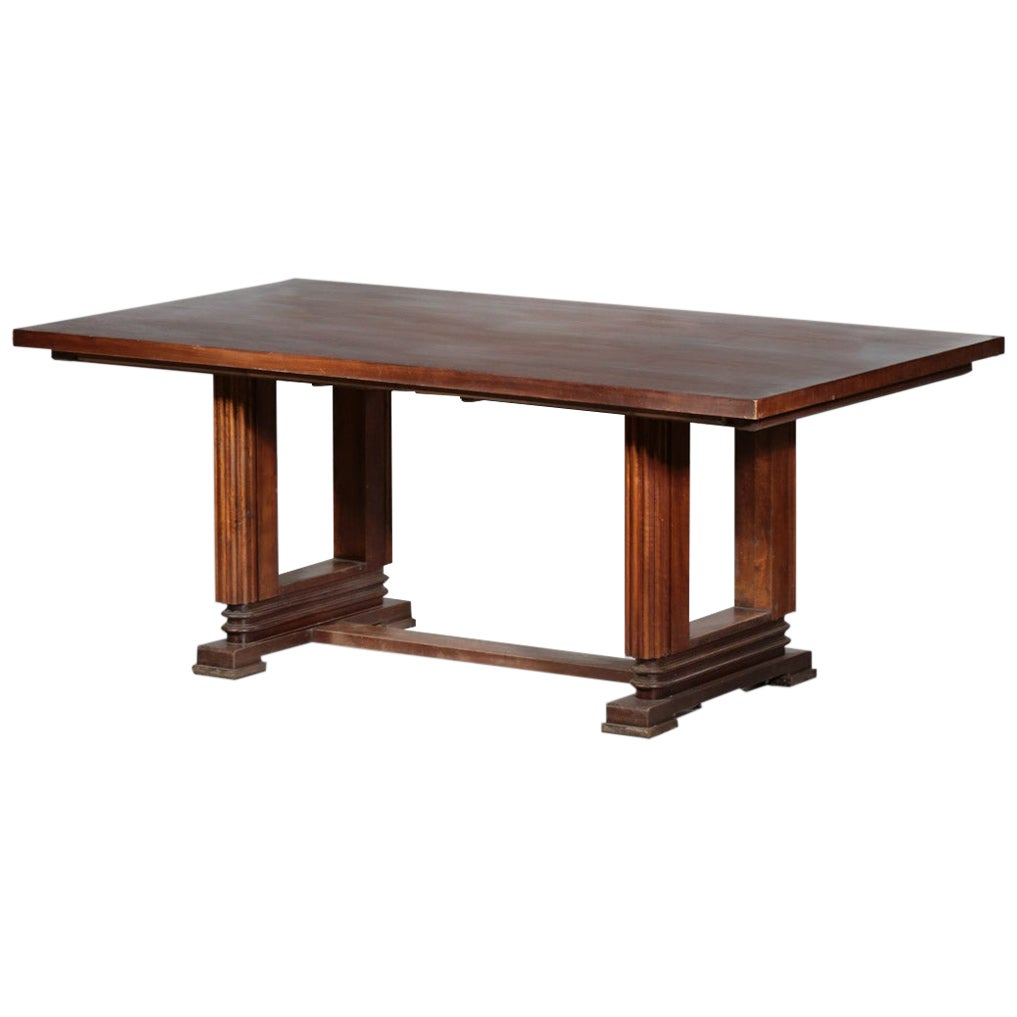 French Dining Table Maxime Old Style Mahogany Art Deco
