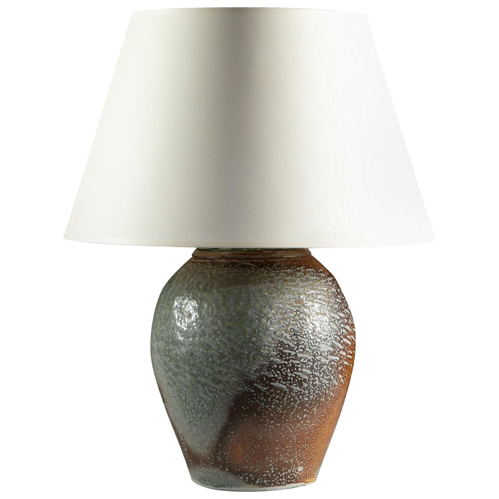 Salt Glazed Art Pottery Vase as a Lamp