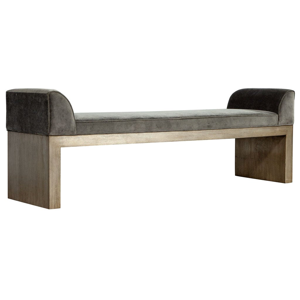 Custom Made Modern Silver Leaf Hall Bench by Carrocel