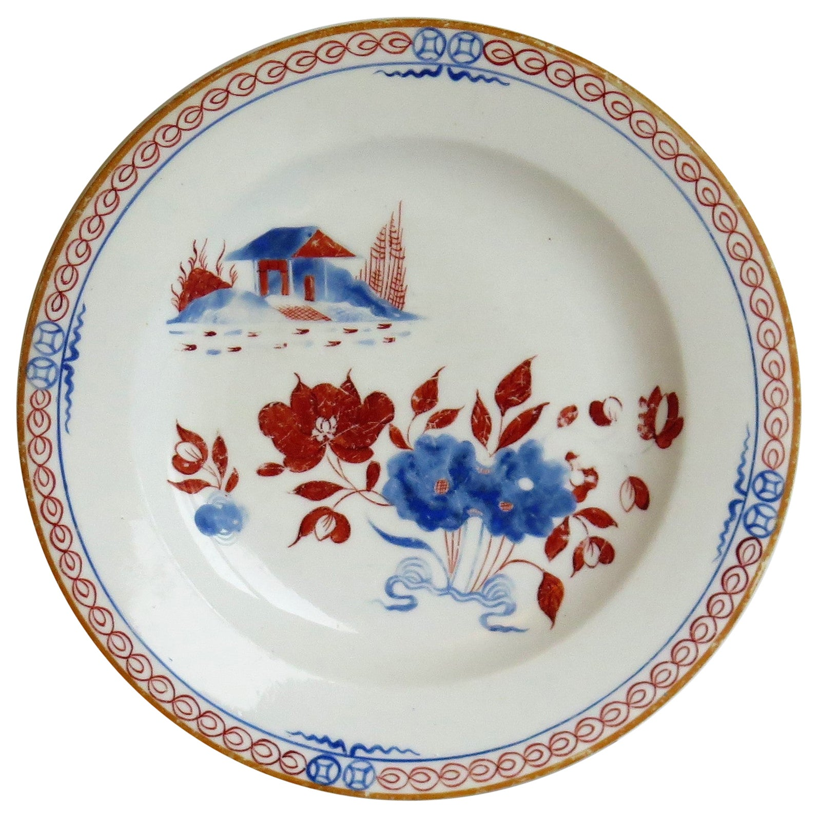 Early 19th C. Spode Plate or Dish Porcelain Hand Painted Dolls House Pattern 488