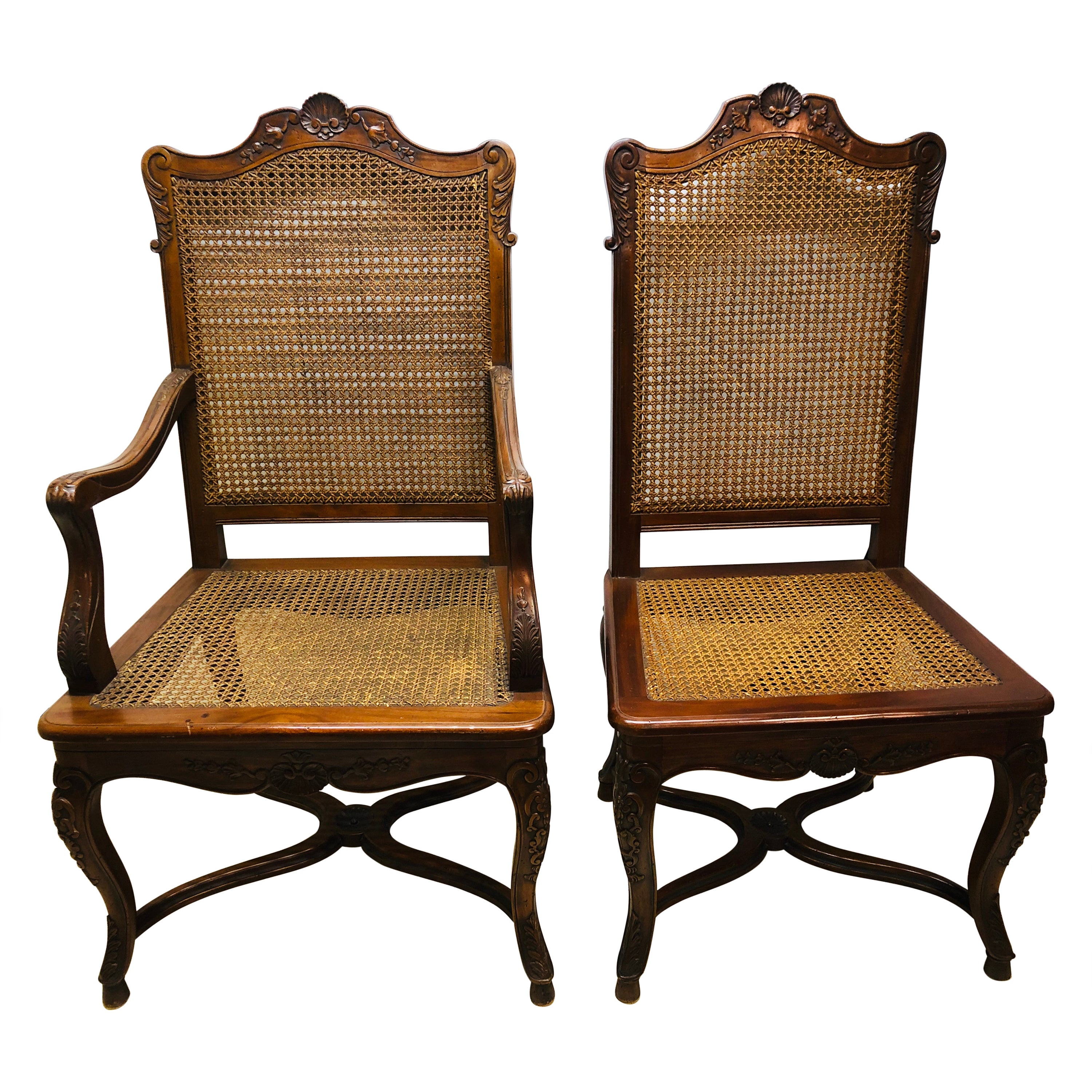 Eight French Country Chairs, Louis XV