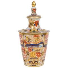 Chamberlains Worcester Hand Painted Flower Holder English Imari Made circa 1820