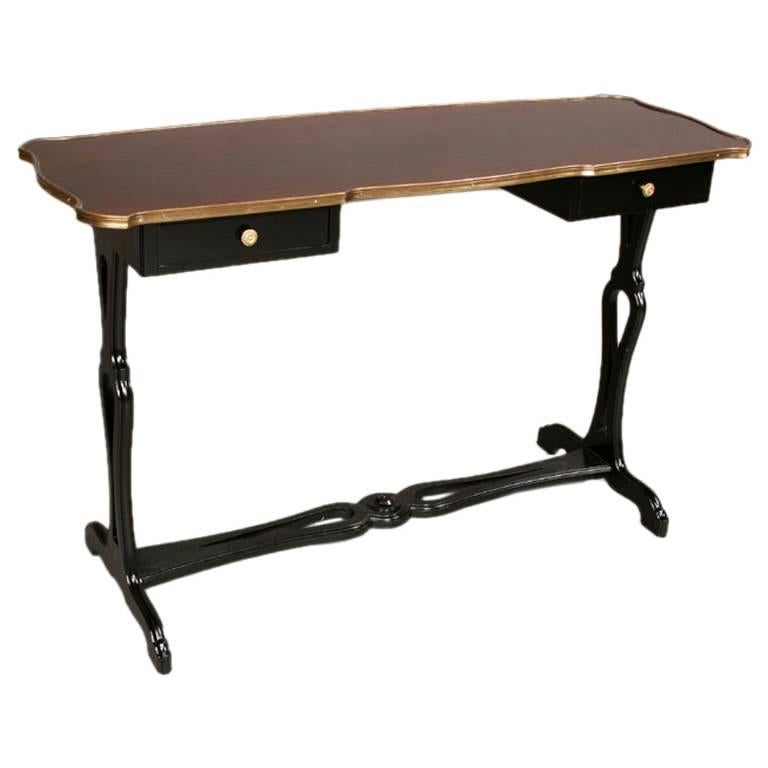 French Modern Neoclassical Ebonized Wood Console or Desk by Maison Jansen