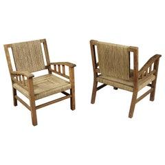 Rare Pair of Francis Jourdain Lounge Chairs, France, circa 1930