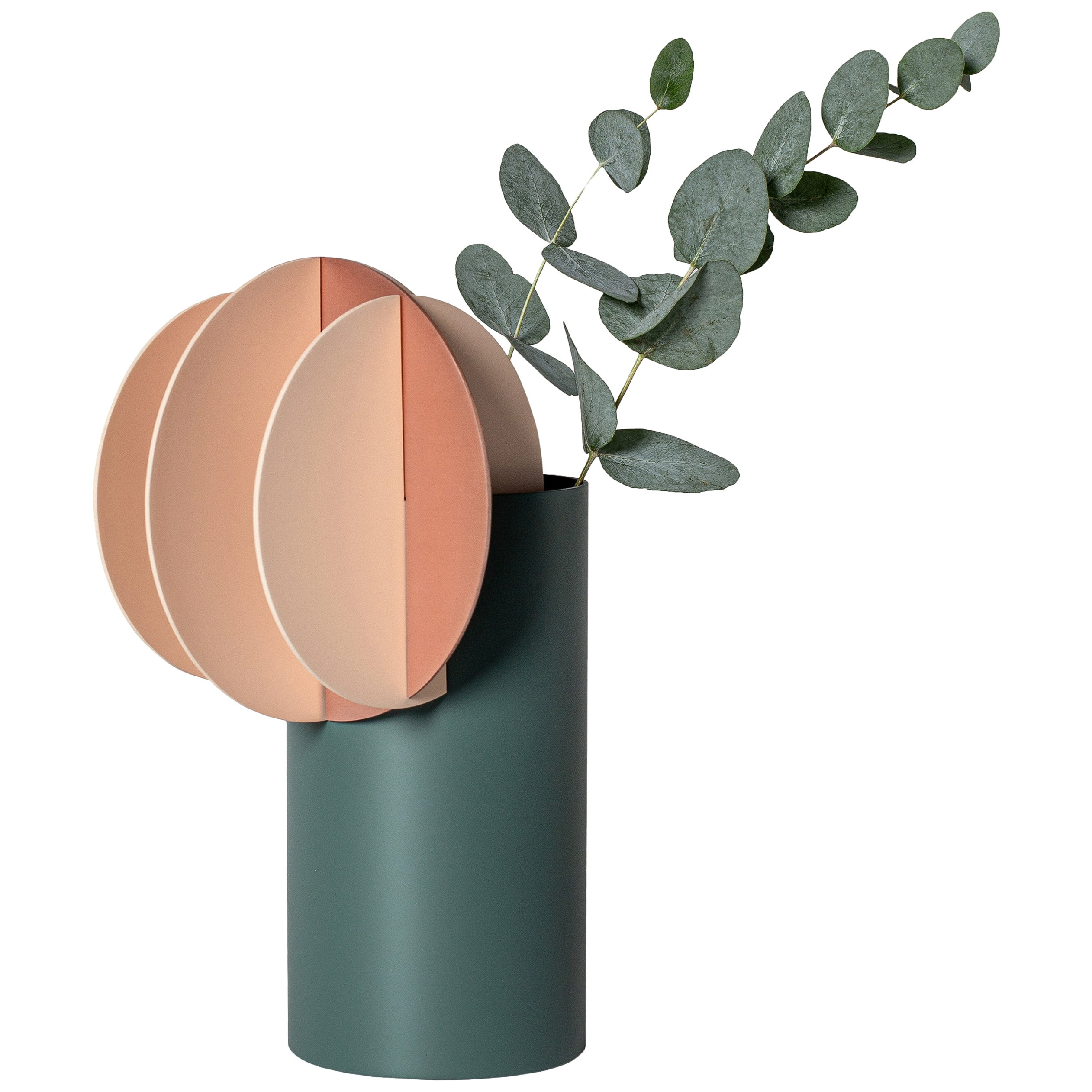 Modern Vase Delaunay CS10 by Noom in Copper and Steel