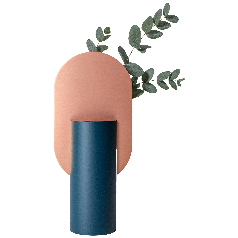 Modern Vase Genke CS2 by Noom in Copper and Steel