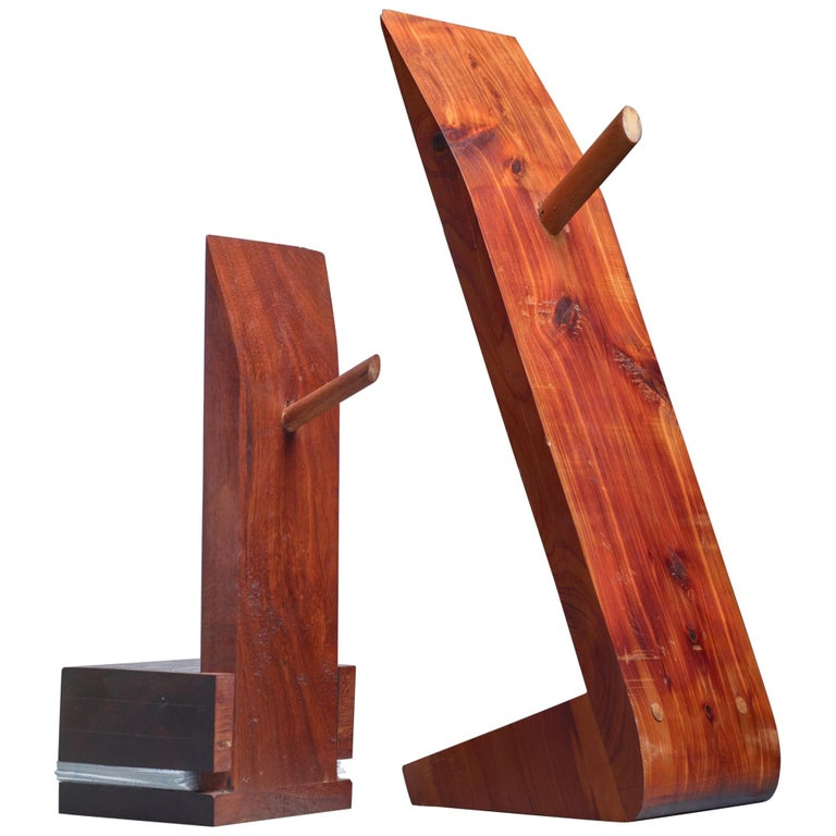 Pair of David Rogers Bookends, USA, 1980s For Sale