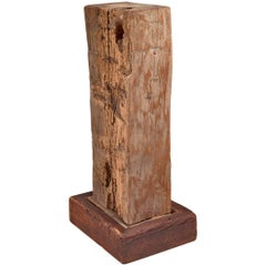 David Rogers Wooden Sculpture or Pedestal, USA, 1980s